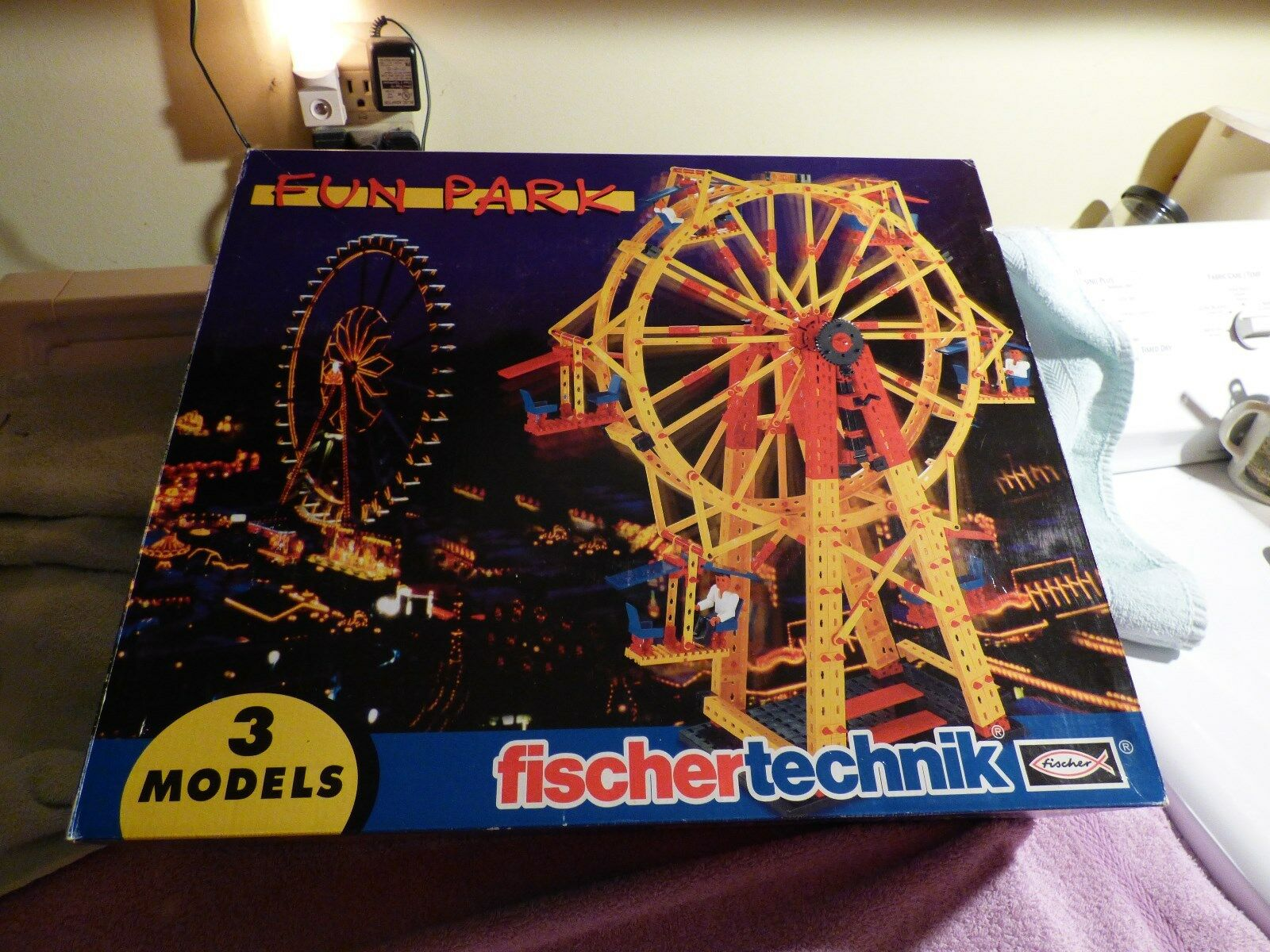 FISCHERTECHNIK  FUN PARK   3 MODELS   GERMANY   NEW IN BOX