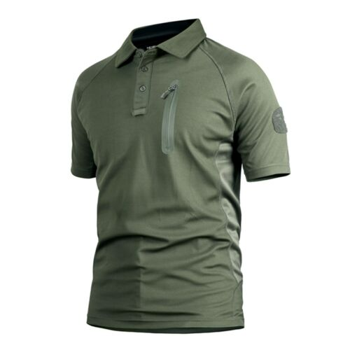 Men Army Outdoor Combat T-Shirt Tactical Military Casual POLO Shirt Hiking Camo