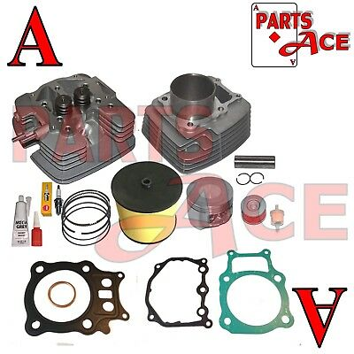 ZENITHIKE Cylinder Top End Kits fit for 2000-2006 Honda Rancher 350 TRX350 TRX350FE TRX350TE TRX350TM replacement kit for 13101-HN5-670 rebuild kit