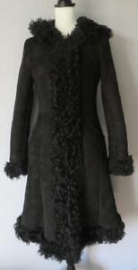 Vintage pecora Prada di pelle in Cappotto Shearling C5OWq