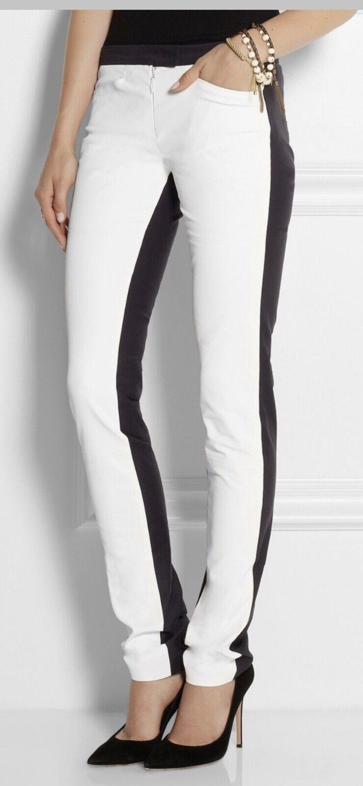 Isabel Marant Nyoka Pants Size 36 Italian Tuxedo Skinny Jeans Coated White  520