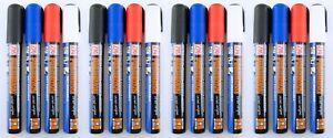 Zig Posterman Chalk Marker Wet-Wipe Erasable Broad 6mm 16pc Black Red Blue White