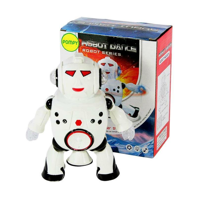 Battery Operated Intelligent Dancing Robot With LED Light Music For Kids Toy