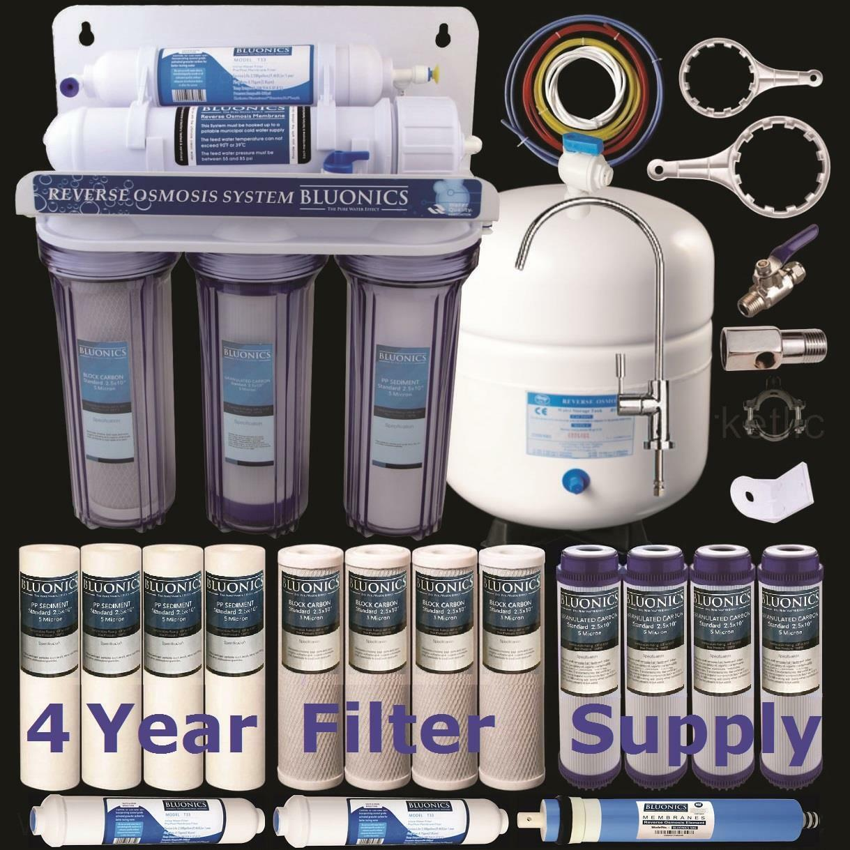5 Stage Home Drinking Reverse Osmosis System  15 Total BlauONICS RO Water Filters