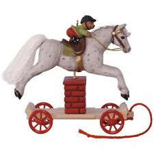 2017 Hallmark Pre-Order A Pony for Christmas Jumping Horse Ornament #20  Horse