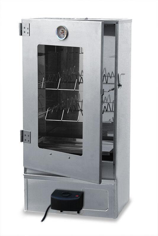 XXL elettrica räucherofenräucherschrank con disco a vista in acciaio inox
