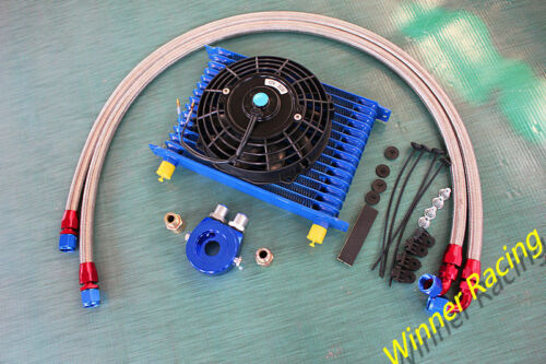15 row AN10 engine transmission oil cooler hose filter relocation with fan kit