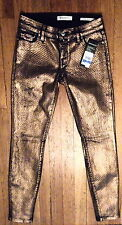 "NWT GUESS Copper Oxidized Wash Power Skinny Size 25 (26"" Belt, 29"" inseam) (940)"
