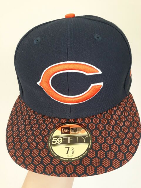 Chicago Bears New Era NFL On Field Dog Ear 59FIFTY Navy Cap