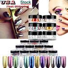 12 Colors DIY Nail Glitter Powder Shinning Nail Mirror Powder Makeup Art Chrome