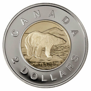 Canada-2-Two-Dollars-2-Coin-Toonie-Polar-Bear-2007