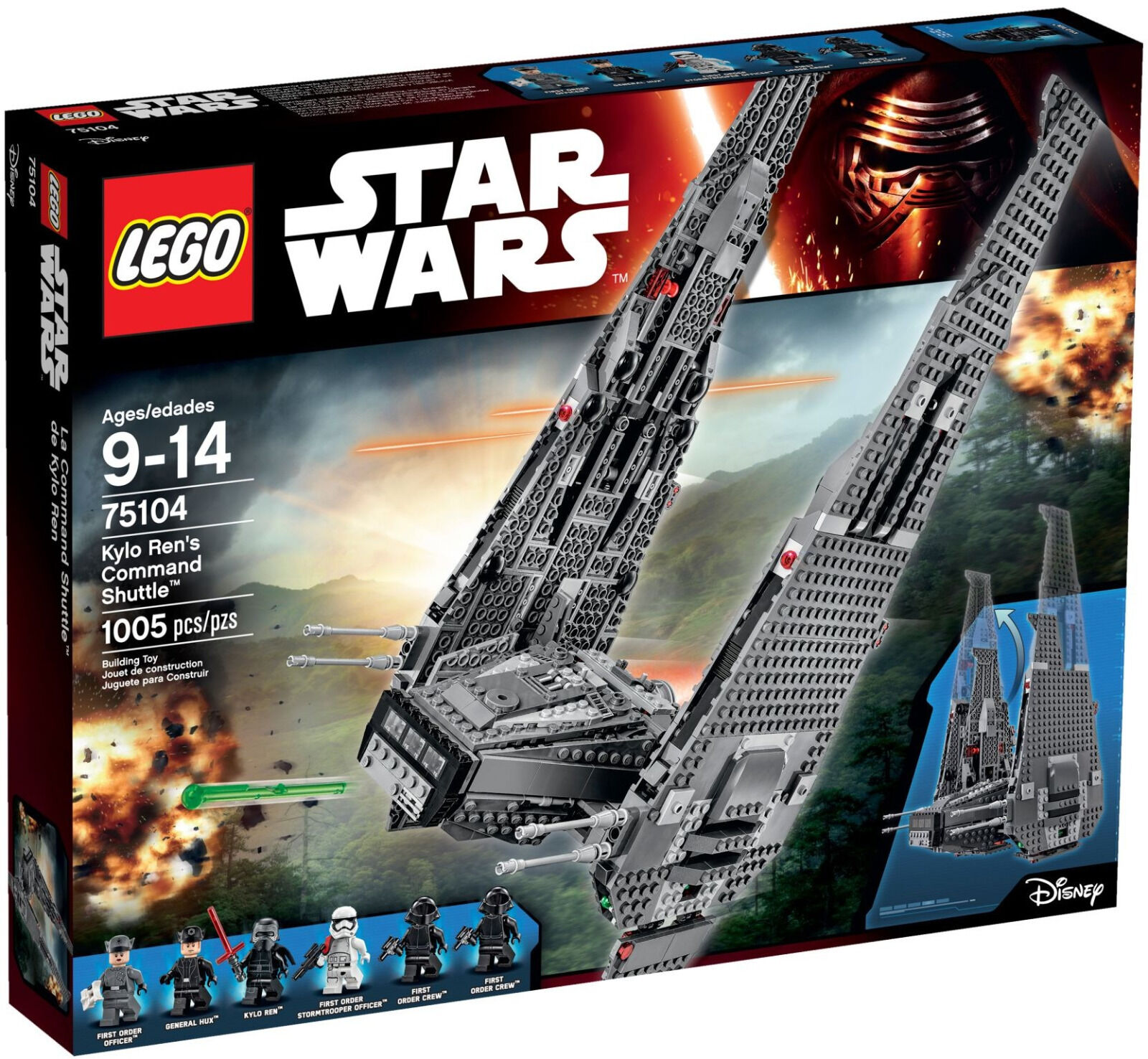 Lego 75104 Star Wars Kylo Ren's comando Shuttle (nuevo Sellado) Conjunto retirado