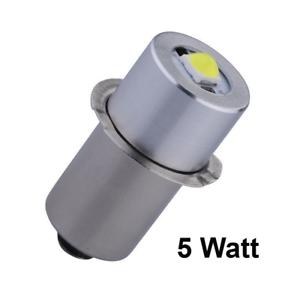 Ridgid 18V Flashlight High Power 5Watt LED Replacement//Upgrade Bulb P13.5S NEW