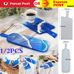Silicone Coaster Resin Casting Mold Epoxy Fruit Tray Plate Mould Craft Tool DIY