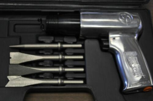 USA Chicago pneumatique Zip Gun Cp 711K Air Marteau Alliage W//4 Chisel Set conformité Européene preuve