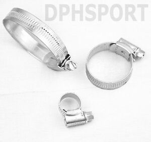 Water Pipe 2x 16-25mm Worm-Drive Hose Clips,Stainless Steel,Jubilee Type,Fuel