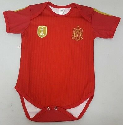 Spain Bodysuit Soccer Baby Outfit Mameluco Infant Girls Boys T-shirt Kid España