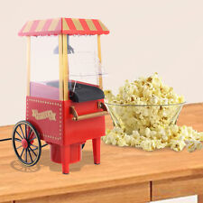 Item 1 Mini Hot Air Pop Corn Maker Cart Popper Machine Tabletop Vintage Home Movie Red