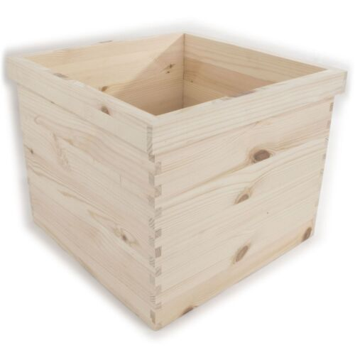 XLarge Square Indoor Wooden Flower Pot Box For Painting Craft Decoupage Decorate