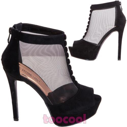 K1l9848 Zapatos Tacones Mujer Botas Ante De Nuevo 7 Tobillo A Velado zxqT7rcSzw