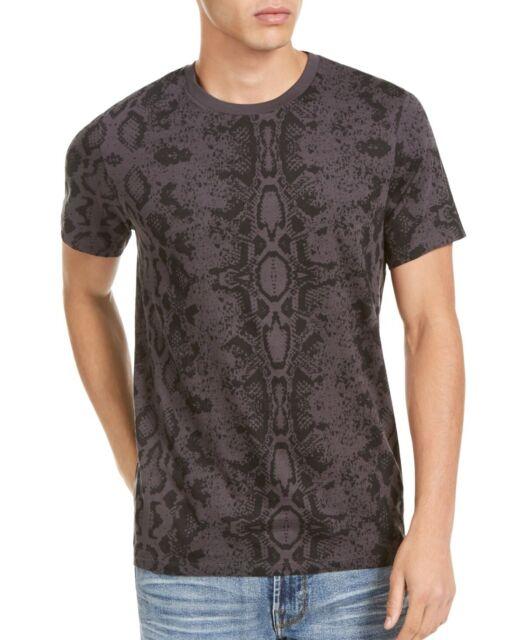 Guess Eco Mens T-Shirt Stone Gray Size Medium M Crewneck Python Tee $39 #183