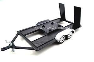 Remorque porte voiture double essieux 1 18 motormax ebay - Remorque porte voiture double essieux ...