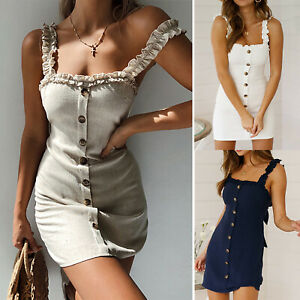 Womens-Sexy-Floral-Lace-Up-Bodycon-Mini-Dress-Summer-Party-Slim-Fit-Pencil-Dress
