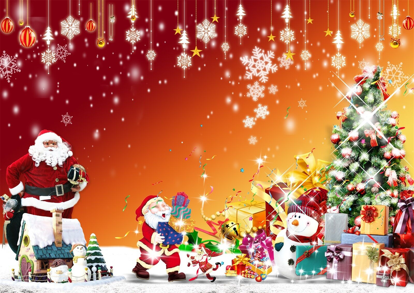 3D Christmas gifts shine Wall Paper Print Decal Wall Deco Wall Indoor Murals