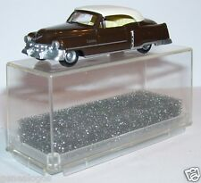 MICRO PRALINE HO 1/87 CADILLAC 54 CADDY CABRIOLET FERME MARRON FONCE IN BOX