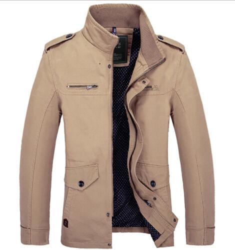 New Men/'s fashion casual collar jackets coat badges Windbreaker jacket