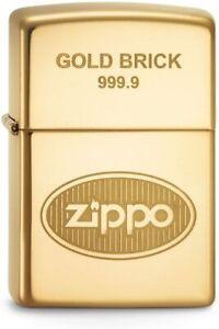 Zippo-60001363-Gold-Brick-9999-Lighter-Benzin-Sturm-Feuerzeug