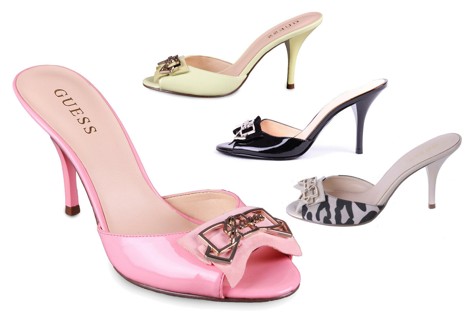 Los últimos zapatos de descuento para hombres y mujeres Guess de salón sandalias sandalias muchos colores,