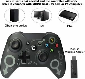 Wireless-Controller-fuer-Xbox-One-und-Microsoft-Windows-10-Bluetooth-schwarz