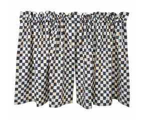 Mackenzie Childs Courtly Check Cafe Kitchen Curtains 72 Quot W