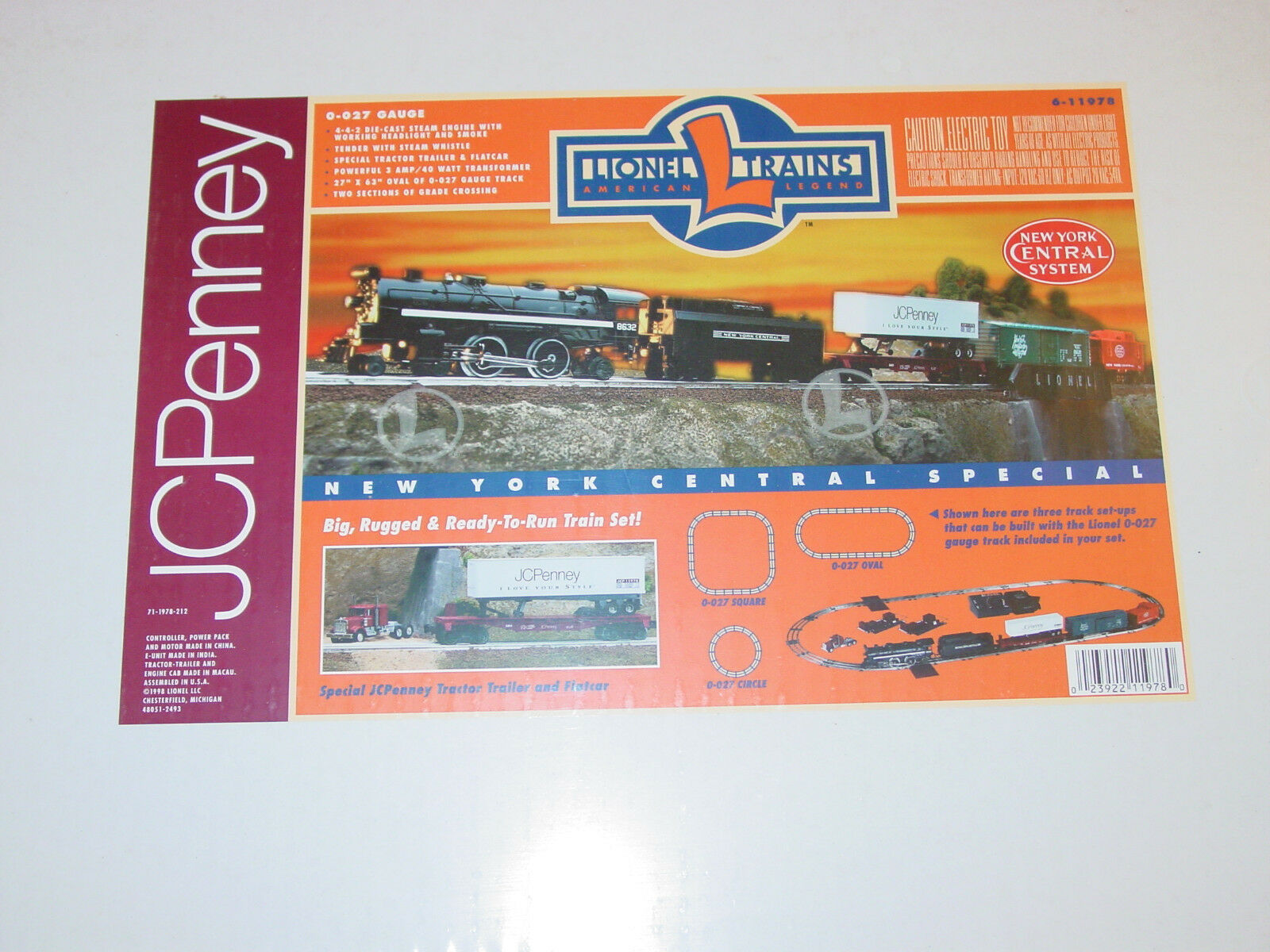 LIONEL  6 - 11978 - J C PENNY - NEW  YORK  CENTRAL  TRAIN  SET   -  SEALED