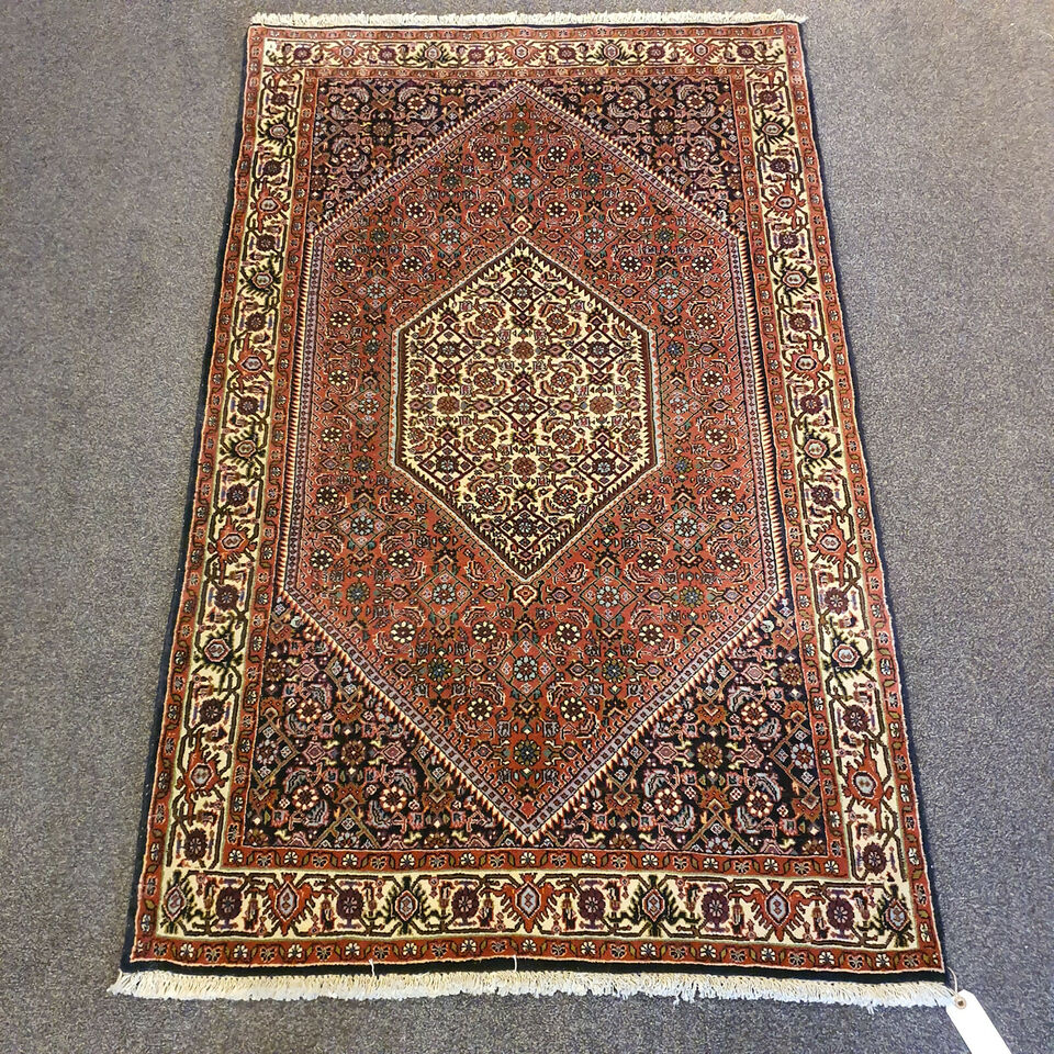 Ægte Håndknyttet Persisk Bidjar tæppe