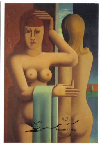 Kunstpostkarte Zwei Frauen Heinrich Hoerle