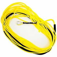 "50' x 3/16"" AmSteel-Blue Mainline Synthetic Winch Rope Line Thimble YELLOW ATV"