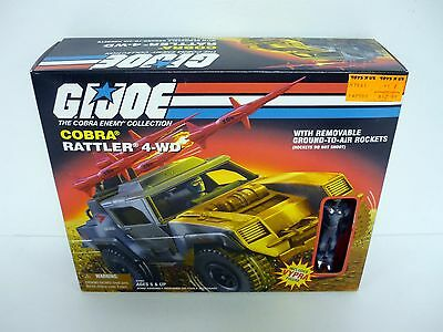 GI JOE COBRA RATTLER 4-WD Vintage Figure Vehicle MISB COMPLETE w/VYPRA BOX 1998