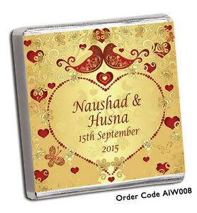 Indian Wedding Favor Bags Uk : PERSONALISED-100-INDIAN-THEMED-WEDDING-CHOCOLATE-FAVOURS-OR-YOUR-OWN ...
