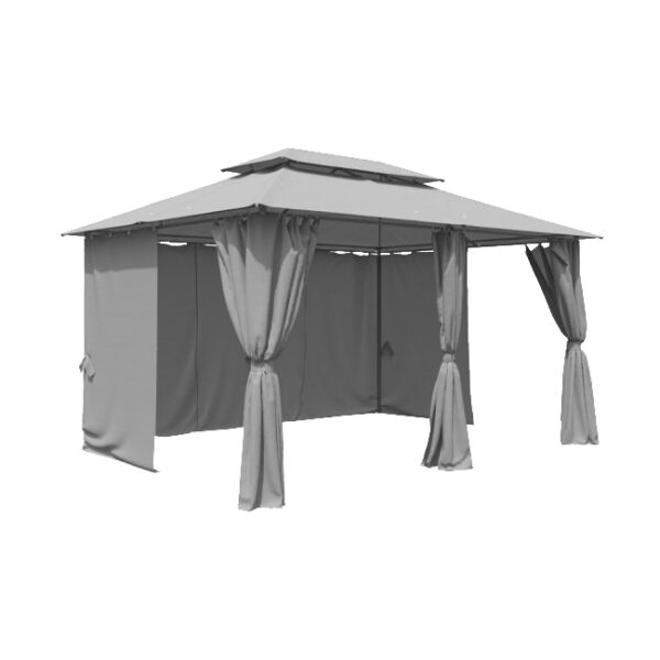 oskar garten pavillon 3x4m stahlgestell grau anthrazit g nstig kaufen ebay. Black Bedroom Furniture Sets. Home Design Ideas