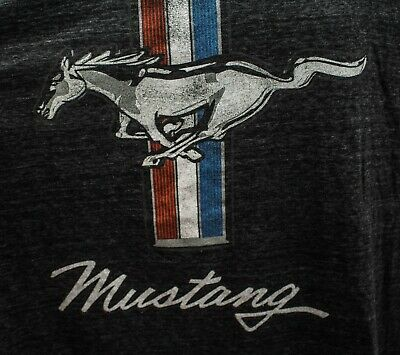 Velocitee Mens T-Shirt Official Licensed Classic Ford Mustang Pony Logo A13732