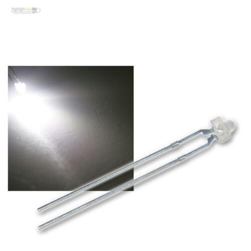 10 LED 1,8mm WEISS blanch bianco im Set white Linse diffus weiß weiße LEDs