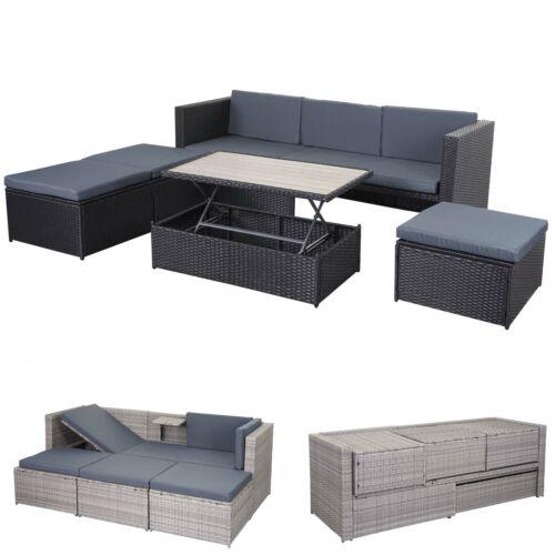 giardino mobili da salotto Poly-Rattan Set hwc-e29 spazio miracolo