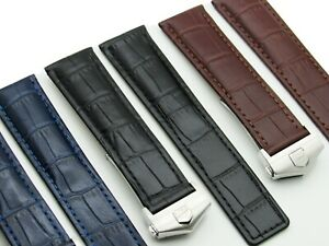 Dismay-Alligator-Embossed-Leather-Watch-Band-Strap-Made-For-Tag-Heuer-19-20-22mm