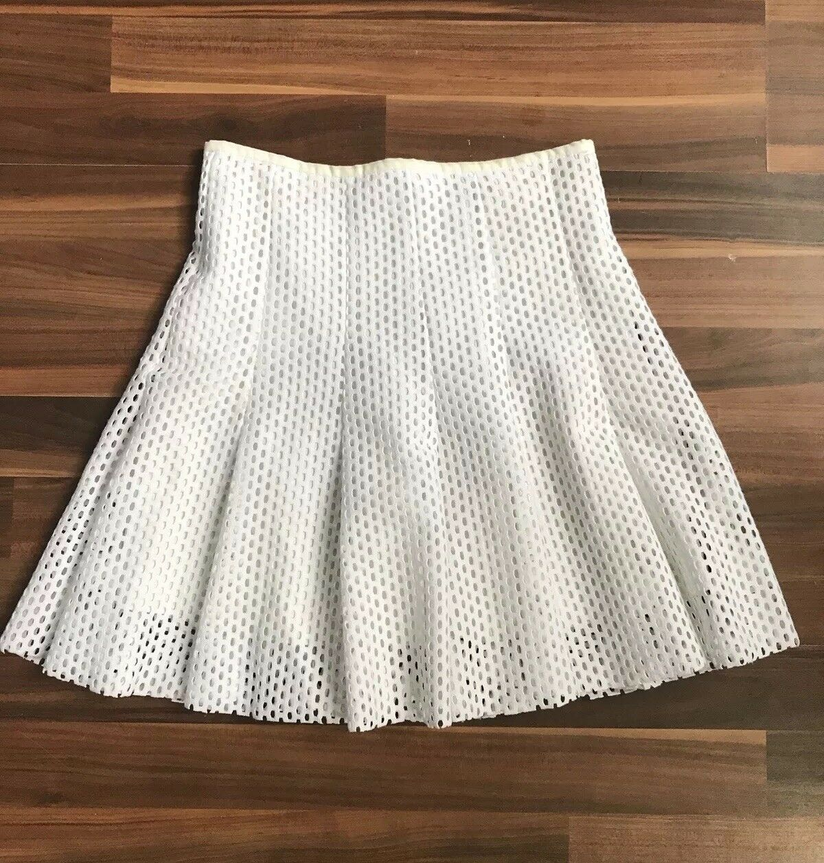 Sandro Paris Mesh Skirt Sz 1 White Perforated