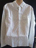 Mens Aeropostale Long Sleeve Dot Woven Shirt Size S 4607
