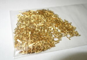 BB1 1oz  Gold Plated Scrap Recovery Fine IDC Pins 90/'s FREE SHIP