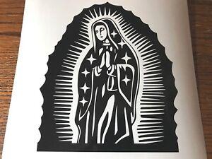 Virgin Mary Sticker Vinyl Decal car truck window catholic religious jesus god