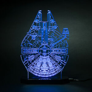 Star Wars Black Series Millennium Falcon Model Led Light Lamp Kids